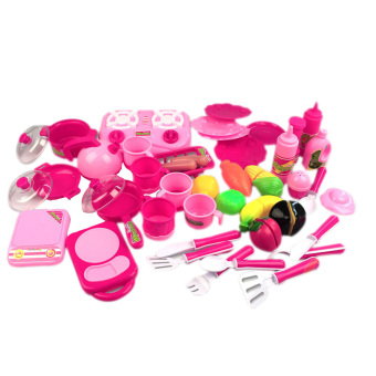 40pcs/set Pink Kitchen Food Cooking Kid Role Play Toy (Intl)