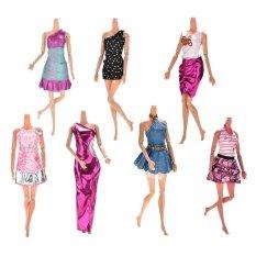 7 cái Thời Trang Áo Cưới Đảng Áo Quần Áo Trang Phục Cho Barbies Cô Gái-quốc tế