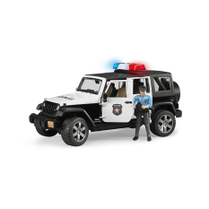 Đồ chơi xe cảnh sát Jeep Wranger Rubicon và người BRUDER BRU02526