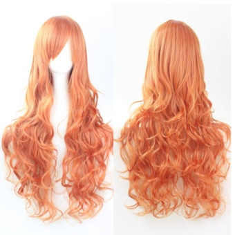 Anime COS High-temperature Synthetic Fiber Bangs Long Curly HairWig 80CM Multicolor - intl