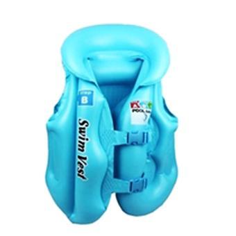 Áo phao bơi trẻ em Swim West (xanh)