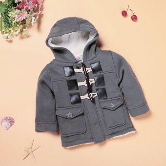 Baby Boy Fleece Warm Hooded Coat (Grey) - intl - 5