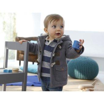 Baby Boy Fleece Warm Hooded Coat (Grey) - intl - 2