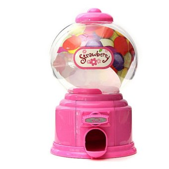 Baby Candy Favors Sweet Candy Dispenser Machine Colorful Piggy BankSaving Coin Box Pink - intl