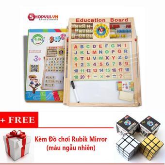 Bảng 2 mặt kèm bộ chữ số bằng gỗ gắn nam châm + Tặng đồ chơi Rubik Mirror - 8650284 , OE680TBAA6RBPAVNAMZ-12420226 , 224_OE680TBAA6RBPAVNAMZ-12420226 , 199000 , Bang-2-mat-kem-bo-chu-so-bang-go-gan-nam-cham-Tang-do-choi-Rubik-Mirror-224_OE680TBAA6RBPAVNAMZ-12420226 , lazada.vn , Bảng 2 mặt kèm bộ chữ số bằng gỗ gắn nam châm