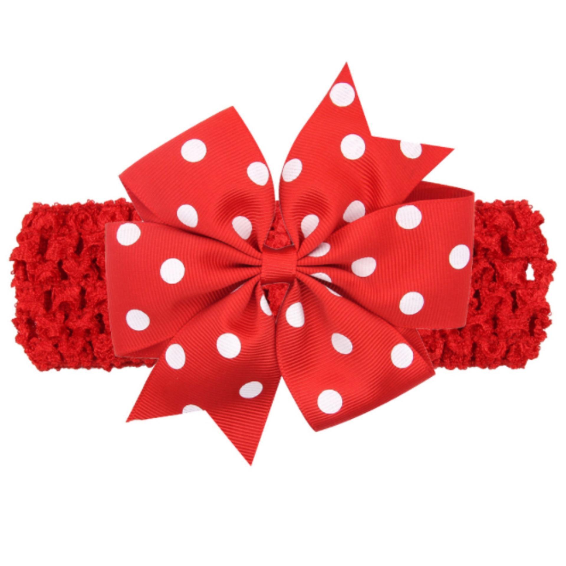 Băng đô handmade phong cách châu Âu AHBĐ5 mầu đỏ phụ kiện tóc cho bé thêm yêu