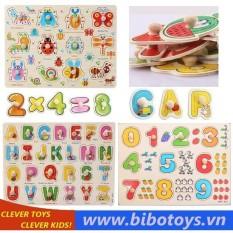 Bảng ghép hình chữ cái, chữ số tập đếm, côn trùng(3 bảng)