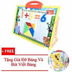 Bảng Nam Châm Học Số Các Phép Tính Và Hình Khối Hàng Việt Nam Tặng Kèm Giá Đỡ Bảng Và Bút Viết