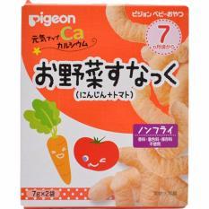 Bánh ăn dặm Pigeon vị cà rốt và cà chua (7 tháng)