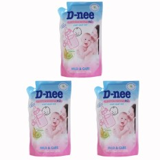 Bộ 03 Túi nước rửa bình sữa và rau củ quả Dnee x 600ml