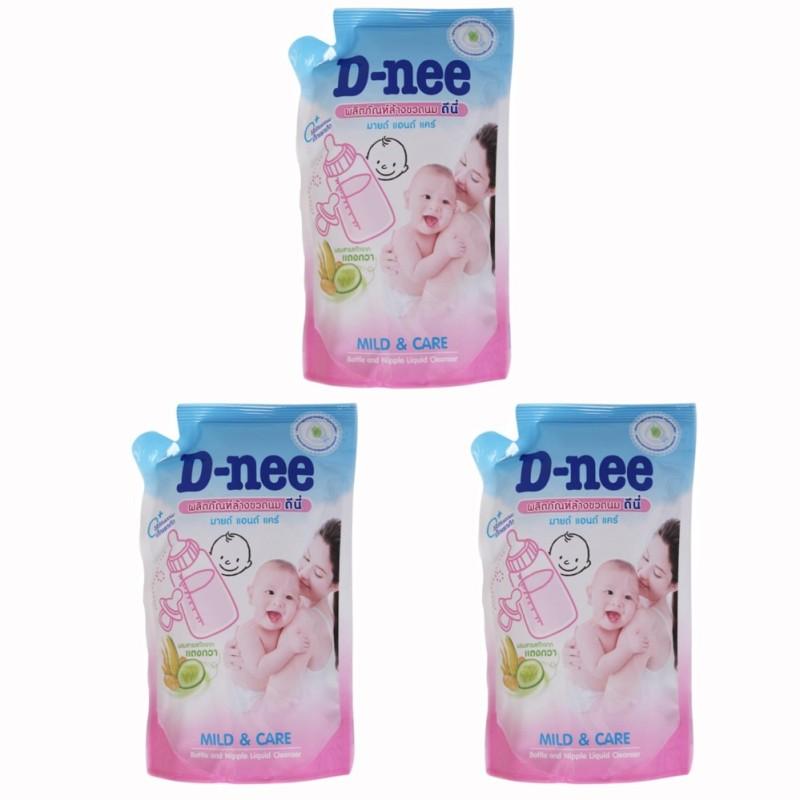 Nơi bán Bộ 03 Túi nước rửa bình sữa và rau củ quả Dnee x 600ml