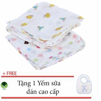Bộ 10 Khăn sữa 2 lớp em bé - Thấm hút tốt ( 32 x 32cm) + Tặng 1 Yếmdán em bé - 8351784 , NO007TBAA6Y088VNAMZ-12745824 , 224_NO007TBAA6Y088VNAMZ-12745824 , 70000 , Bo-10-Khan-sua-2-lop-em-be-Tham-hut-tot-32-x-32cm-Tang-1-Yemdan-em-be-224_NO007TBAA6Y088VNAMZ-12745824 , lazada.vn , Bộ 10 Khăn sữa 2 lớp em bé - Thấm hút tốt ( 32 x 32cm)