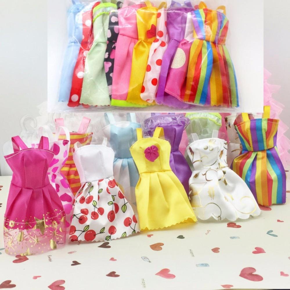 Bộ 10 Váy Ngắn Cho Búp Bê 29Cm