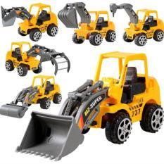 Bộ 10 xe mô hình xây dựng cho bé MH shop 01 + Tặng đồ chơi máy bay phát sáng