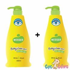 Bộ 2 chai Sữa tắm gội Wesser 200ml – xanh lá