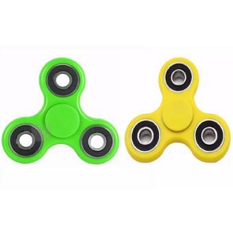 Bộ 2 Con quay trò chơi giảm stress 3 cánh (Vàng+xanh)