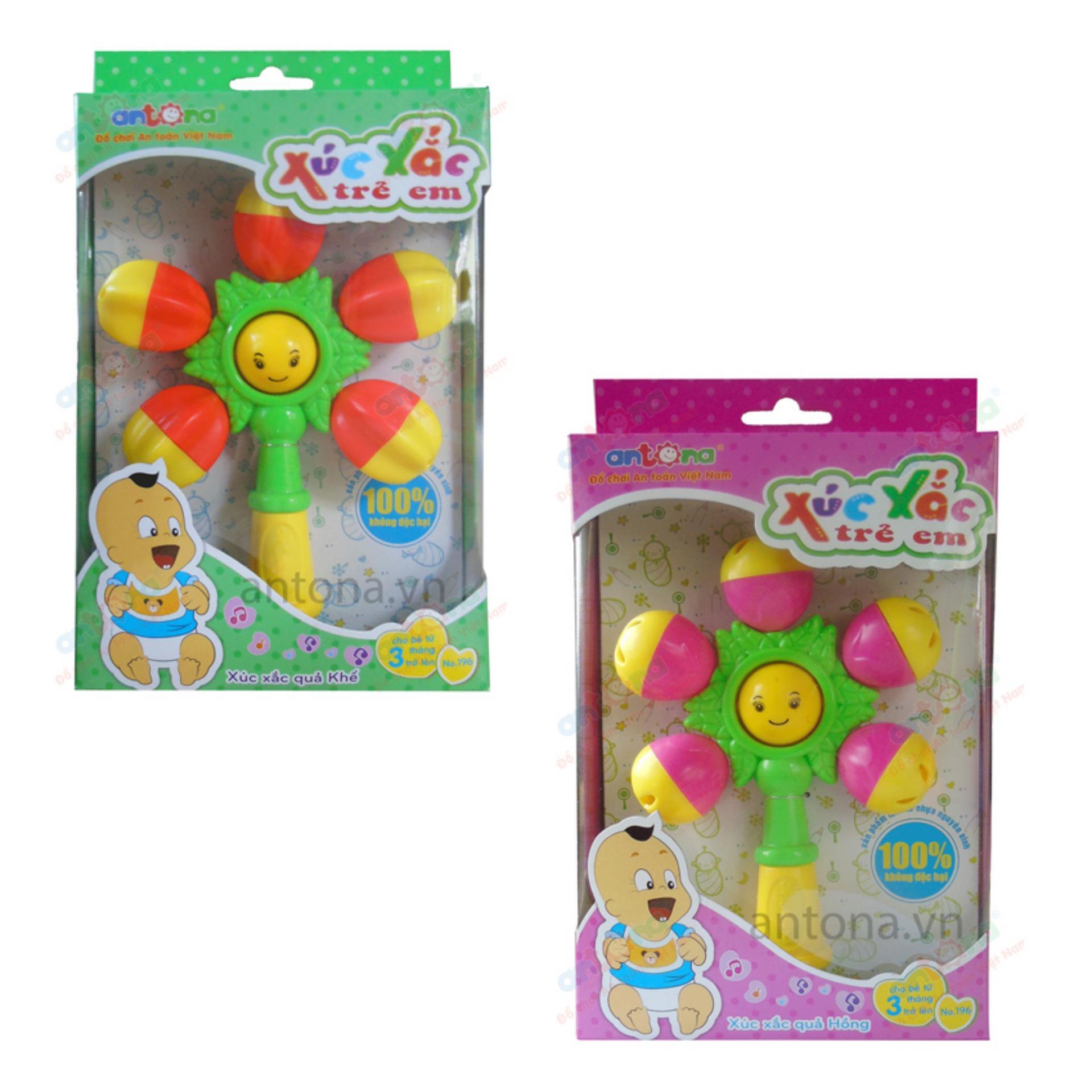 Bộ 2 đồ chơi Xúc xắc quả hồng và xúc xắc quả khế