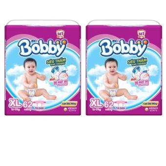 Bộ 2 gói tã giấy Bobby siêu mỏng XL62