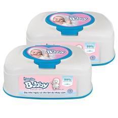 Bộ 2 hộp Khăn ướt Bobby hộp tiện lợi 80 miếng