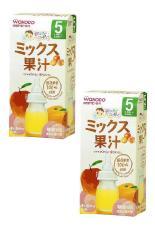 Bộ 2 hộp trà Wakodo vị hoa quả tổng hợp cho bé từ 5 tháng tuổi