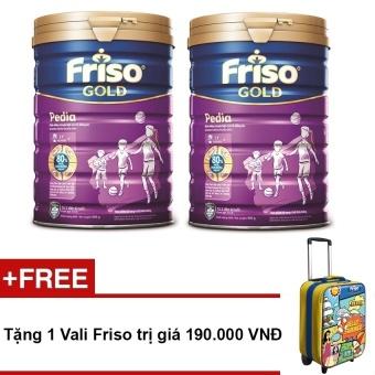 Bộ 2 sữa bột Friso Gold Pedia 900g + Tặng 1 va li Friso trị giá 190.000 VNĐ
