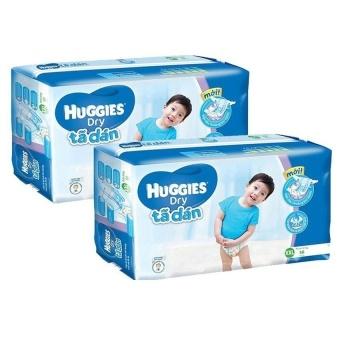Bộ 2 tã dán Huggies Dry Super Jumbo XXL56