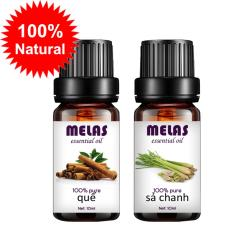 Bộ 2 tinh dầu thiên nhiên MELAS quế 10ml và sả chanh 10ml