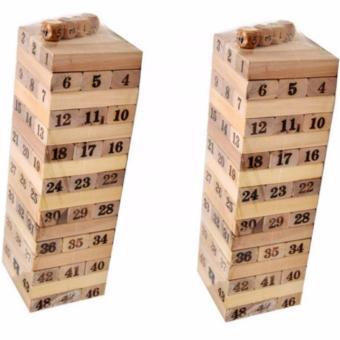 Bộ 2 trò chơi rút gỗ 54 thanh