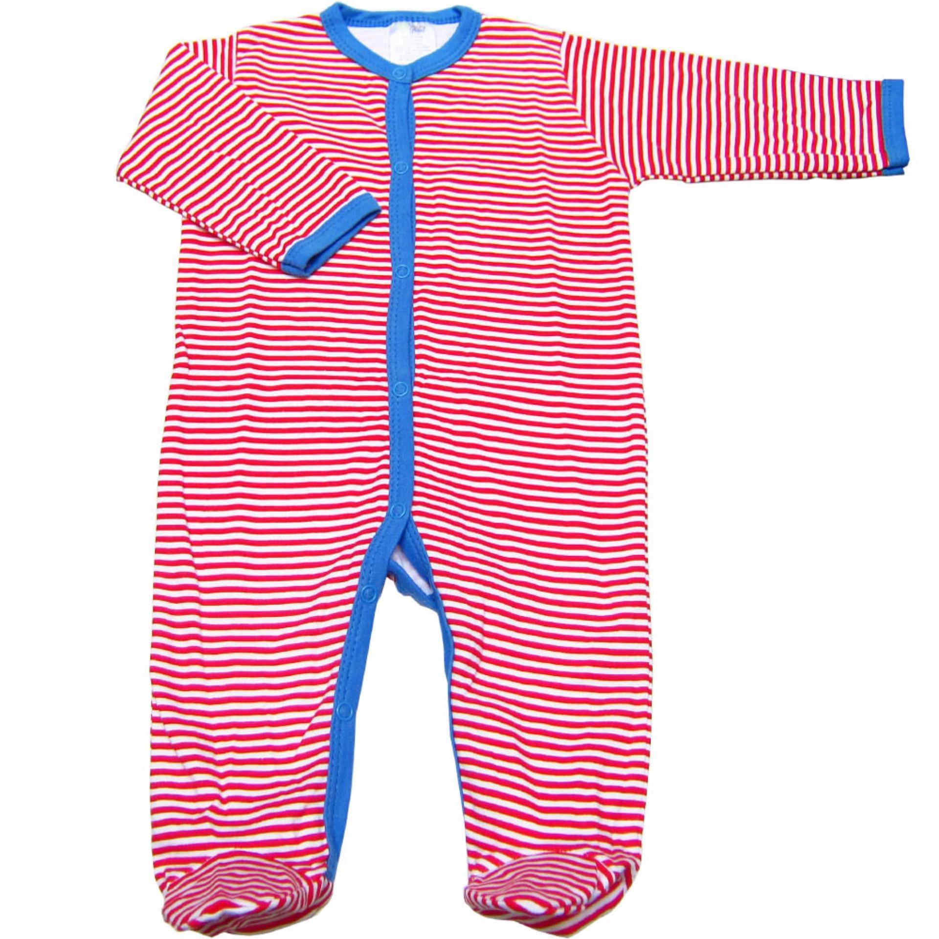 Bộ 3 áo liền quần liền vớ bé trai từ 3 đến 12 tháng Baby Gear (Mẫukhoai tây)
