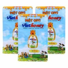 Bộ 3 gói mật ong Viethoney (40 túi x 5g)