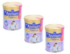 Bộ 3 hộp sữa bột dành cho phụ nữ mang thai và cho con bú hương vani Anmum Materna 3 x 400g