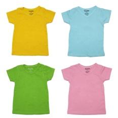 Bộ 4 áo thun cổ tim nhiều màu Ronal Kids