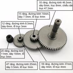Bộ 4 bánh răng giảm tốc bằng thép dùng cho motor 775 chế xe điện, đồ chơi sáng tạo (DO129 TQ) – Luân Air Models