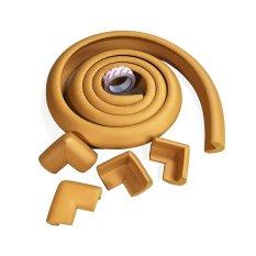 Bộ 4 bịt góc nhọn bàn và 1 sợi bịt cạnh bàn (Nâu gỗ)