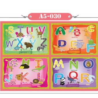 Bộ 4 tranh xếp hình bảng chữ cái 12 mảnh A5-030