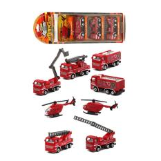 Bộ 4 xe cứu hỏa (máy bay trực thăng, xe thang cứu hộ, xe cứu hỏa, xe thùng chở nước)