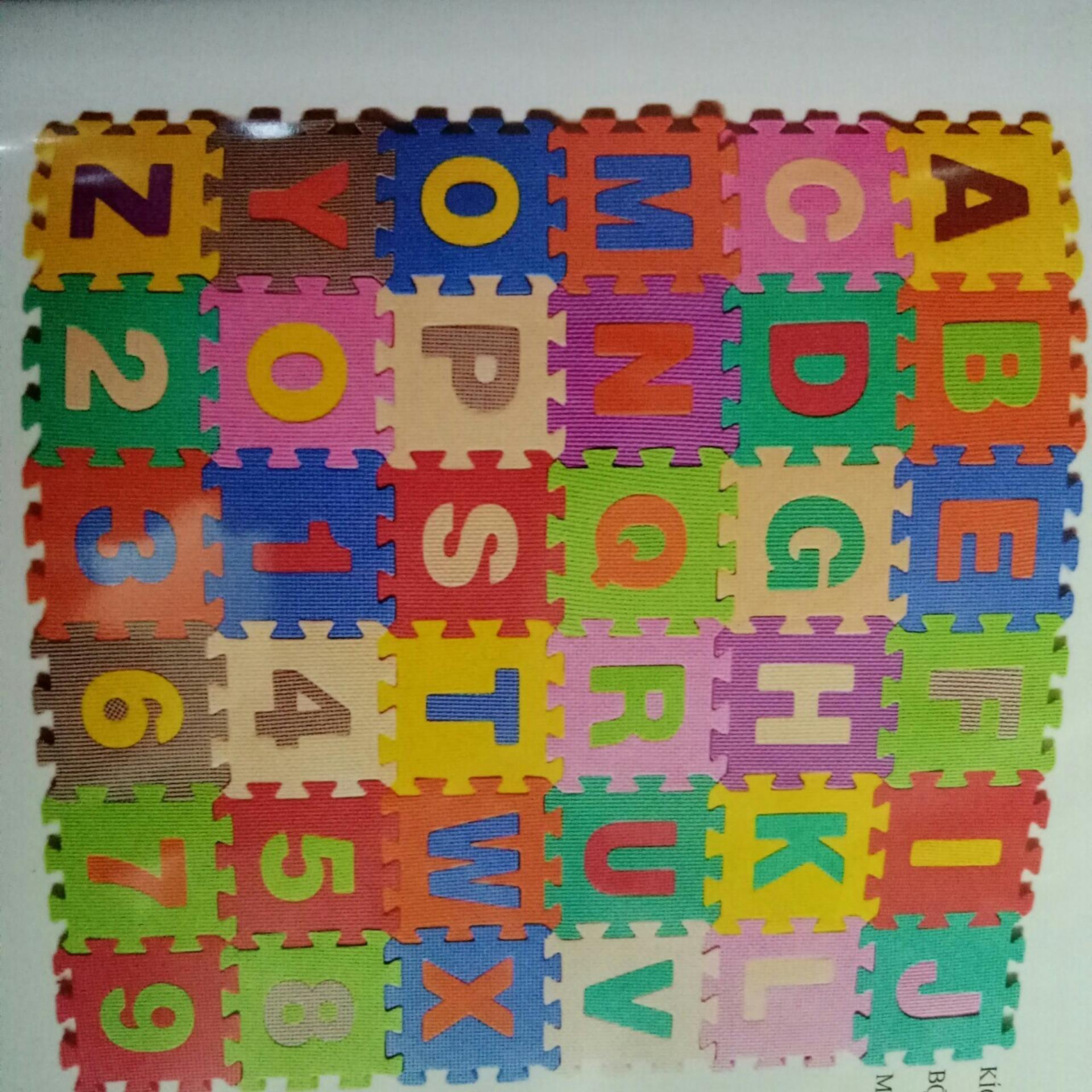 Bộ 40 Miếng Thảm Xốp Mềm Lót Sàn gồm chữ cái và số đếm cho Bé