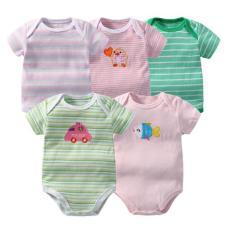 Bộ 5 áo liền quần bé từ sơ sinh đến 12 tháng (Nhiều màu)