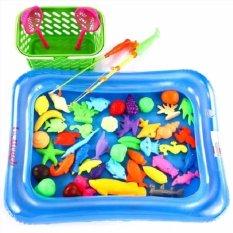 Bộ bể phao câu cá 2 cần cho bé