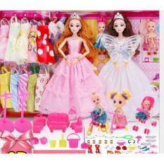 Đồ chơi trẻ em bộ búp bê barbie công chúa đồ chơi bé gái thay áo cưới với hộp quà tặng -AL