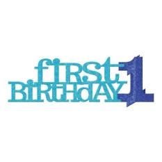 Bộ Chữ 3D Happy Birthday 1 Tuổi Đặt Bàn – Màu Xanh