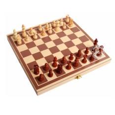 Bộ cờ vua và bàn cờ cao cấp kiểu gỗ (31 x 31 x 2) có nam châm Thanh Khang 016000025 (vàng nhạt)