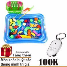 Bộ Đồ Chơi Câu Cá Tại Nhà Cho Bé Kim Nhung + Móc khóa húyt sáo thông minh