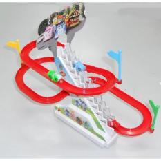 Bộ đồ chơi cầu trượt đường đua ô tô có nhạc cho bé chơi vui