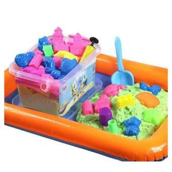 Bộ đồ chơi khuôn cát nặn tăng khả năng sáng tạo cho bé kèm bơm vàbể phao