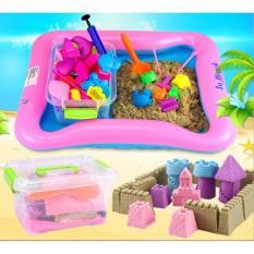 Bộ đồ chơi khuôn tạo hình khối cát động lực vi sinh an toàn cho trẻ loại 1,5kg