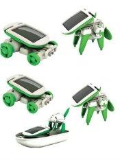 Bộ đồ chơi lắp ghép luyện tư duy 6 trong 1, Pin năng lượng mặt trời RBKDCGD01 C584 (Xanh – Trắng)