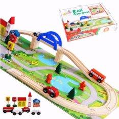 Bộ đồ chơi lắp ghép mô hình giao thông thành phố bằng gỗ tự nhiên giúp bé tư duy sáng tạo