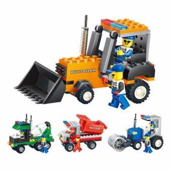 Bộ đồ chơi lego xếp hình Wange máy xúc - Xe công trường - 3