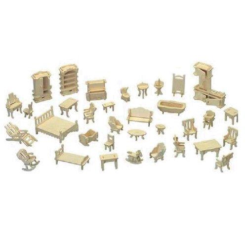 Bộ đồ chơi mô hình lắp ghép gỗ 3D.